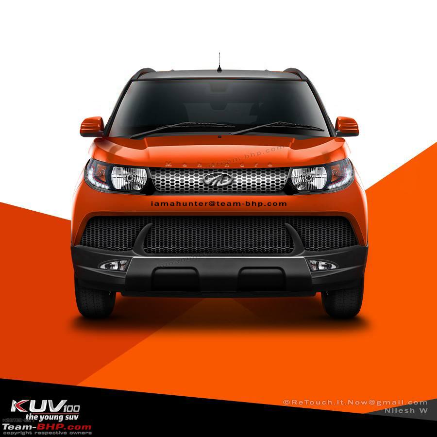 Mahindra-KUV100-re-imagined-with-new-grille-and-bumper