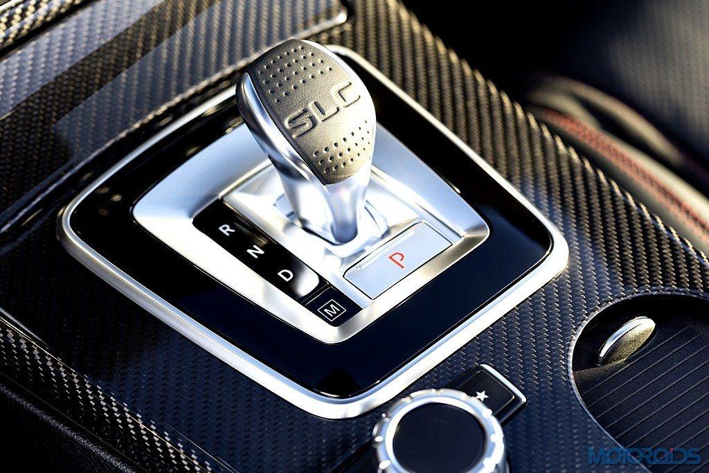 Mercedes-AMG SLC 43, Interieur, Schalthebel Mercedes-AMG SLC 43, interior, gearshift lever