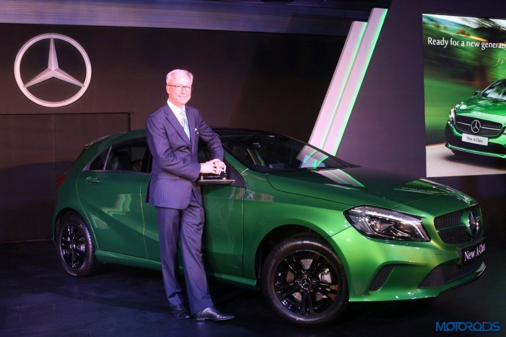 Roland Folger, MD, CEO, Mercedes-Benz India new A-Class (1)