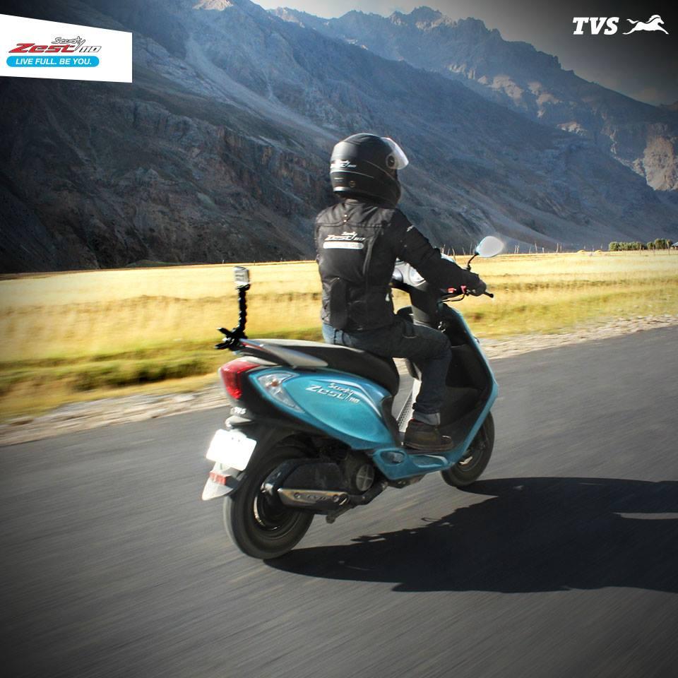 TVS Scooty 110 Himalayas Khardung La (1)