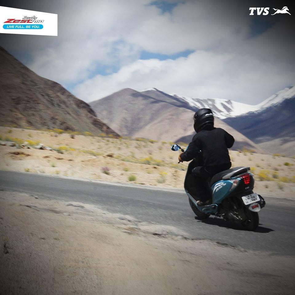 TVS Scooty 110 Himalayas Khardung La (4)
