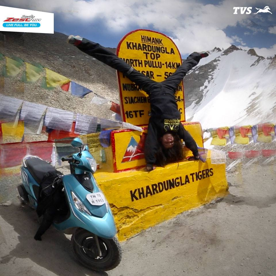 TVS Scooty Zest 110 to the Himalayas Anam Hashim (1)