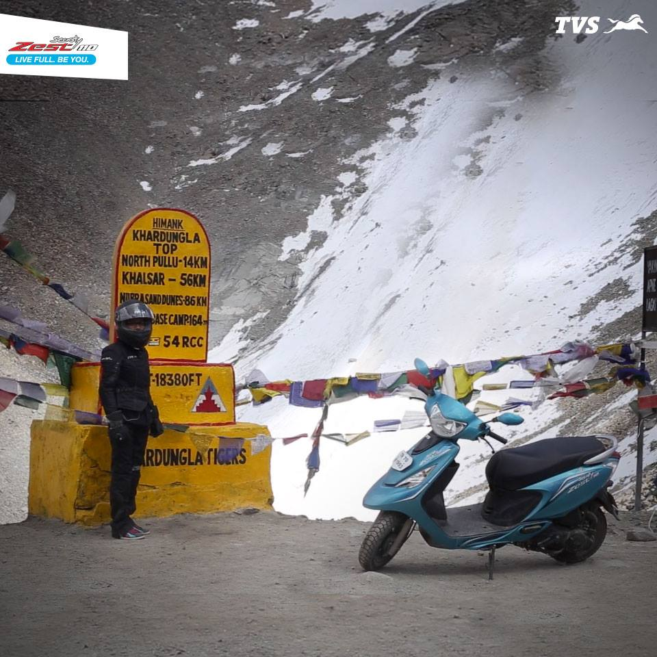 TVS Scooty Zest 110 to the Himalayas Anam Hashim (2)