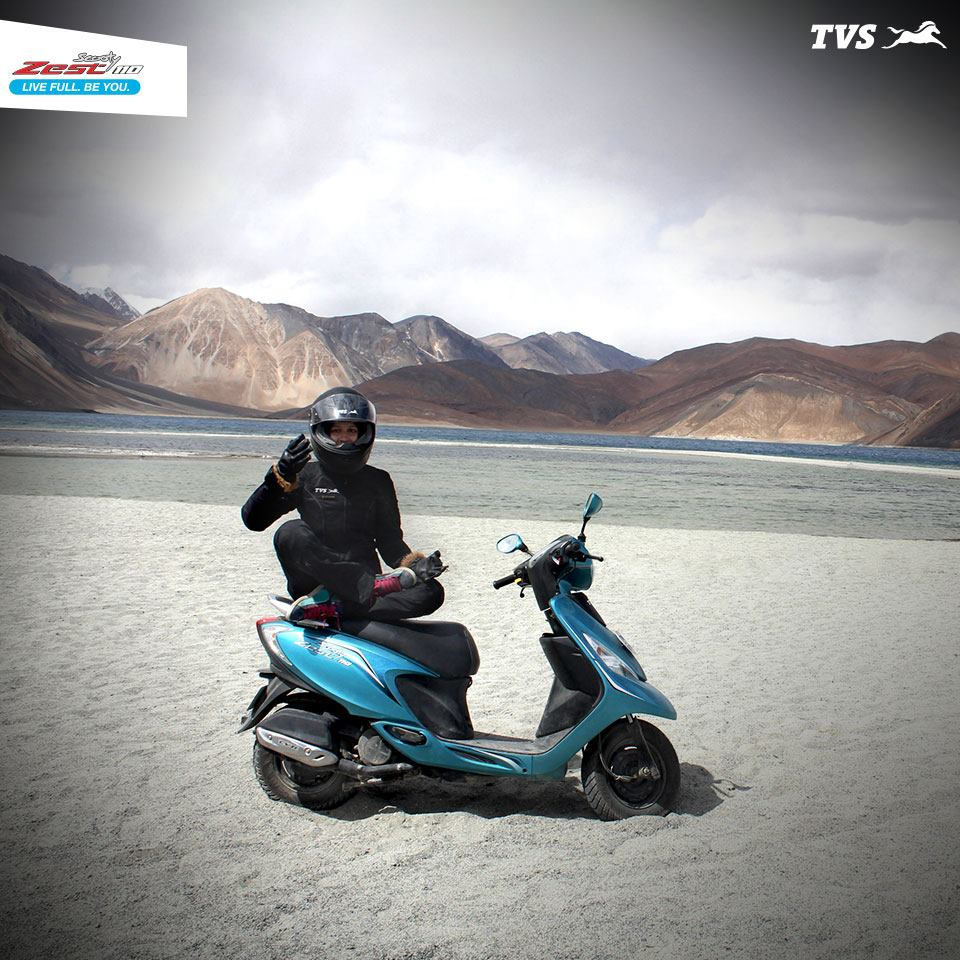 TVS Scooty Zest 110 to the Himalayas Anam Hashim (3)