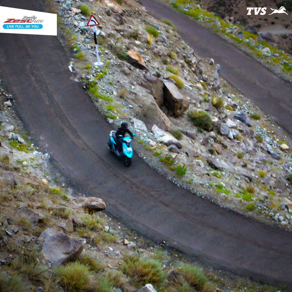 TVS Scooty Zest 110 to the Himalayas Anam Hashim (4)