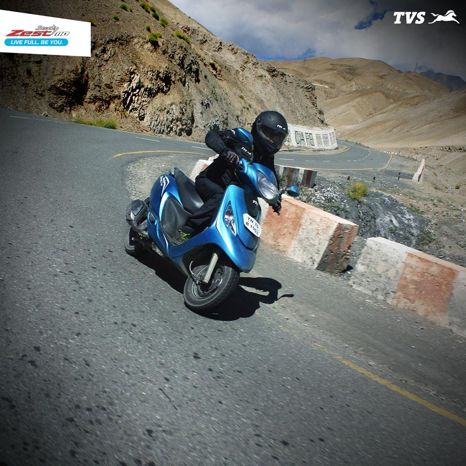 TVS Scooty Zest 110 to the Himalayas Anam Hashim (5)