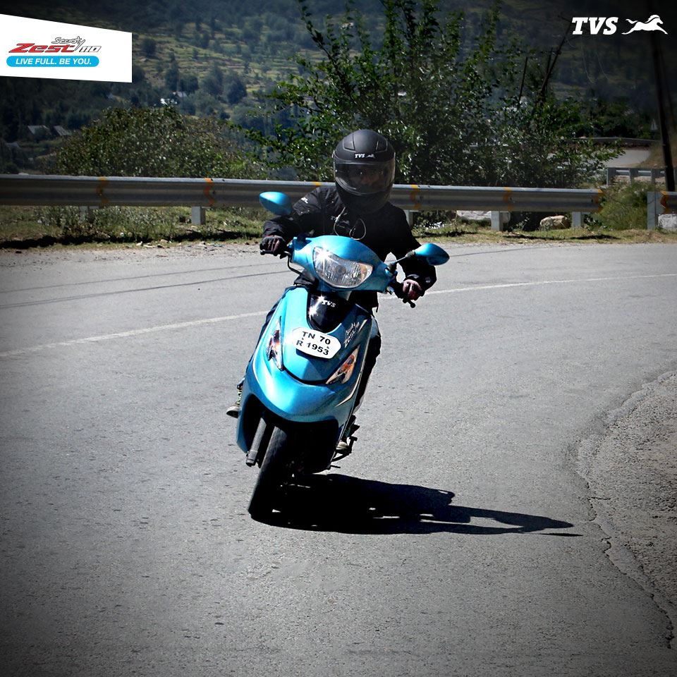 TVS Scooty Zest 110 to the Himalayas Anam Hashim (6)