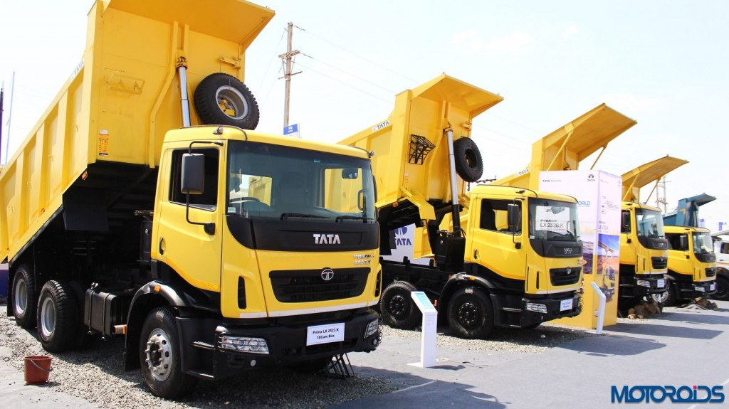 The Tata Prima 2523.K range showcased at Truck World, Advanced Trucking Expo in Hubli