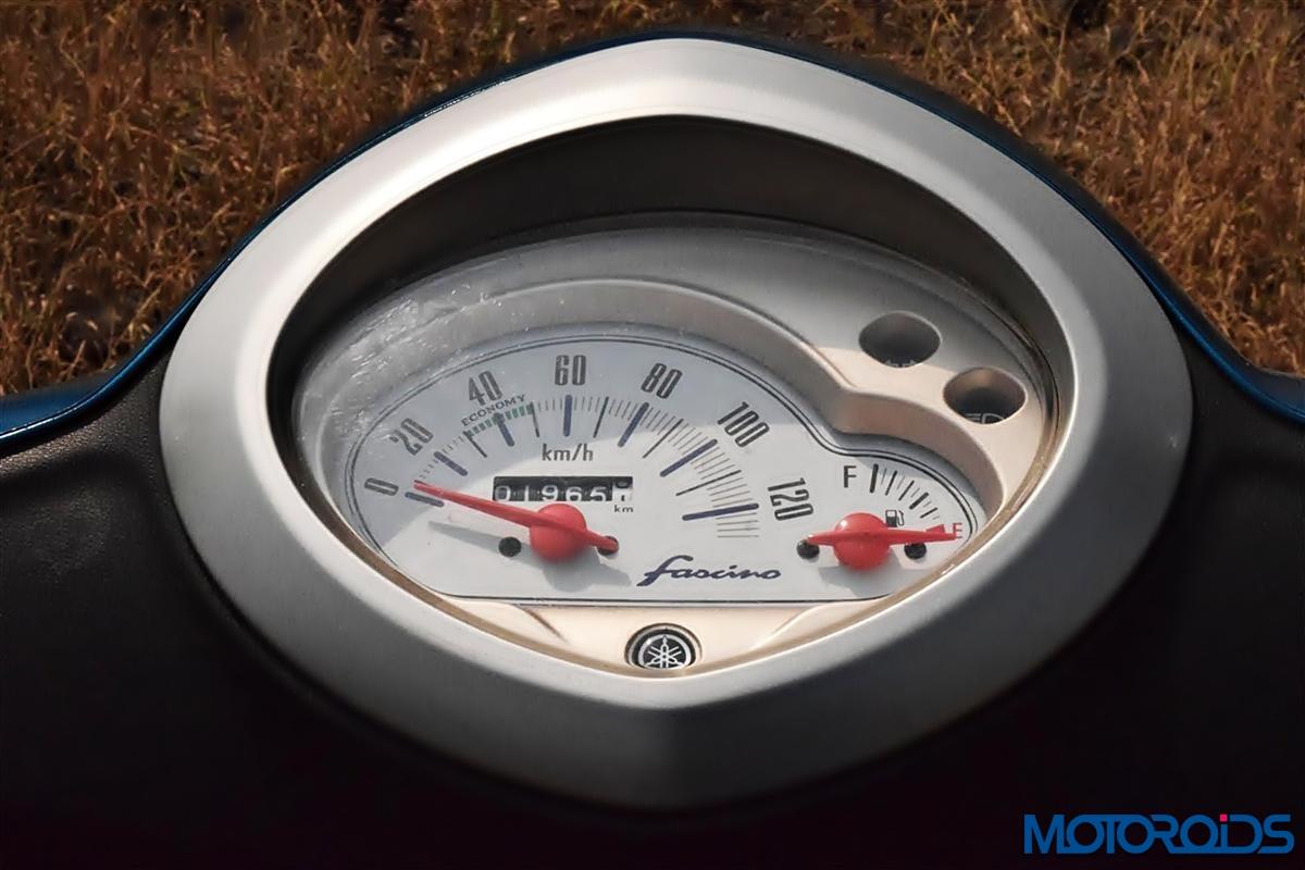 Yamaha Fascino speedometer