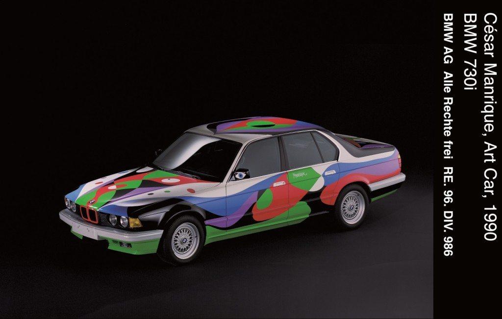 04 #10 BMW Art Car César Manrique 1990 BMW 730i