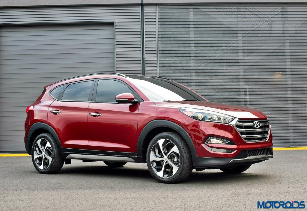 new hyundai tucson to make its india debut at the 2016 auto expo motoroids. Black Bedroom Furniture Sets. Home Design Ideas