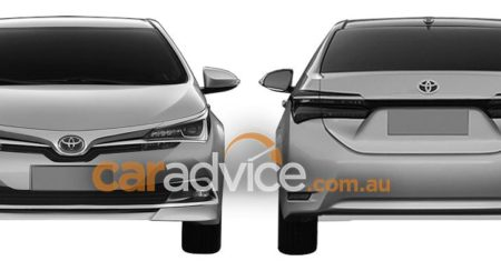 India bound MY 2016 Toyota Corolla facelift spied through patent images