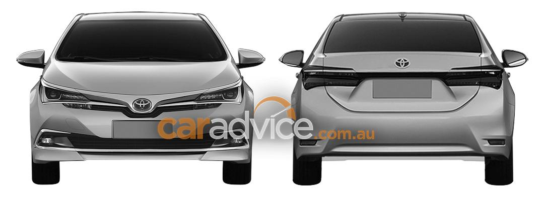 2016 Toyota Altis facelift front and rear