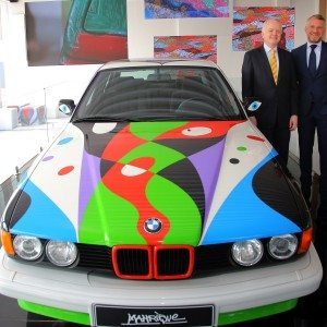 BMW Group gets 10th BMW Art Car created by artist César Manrique at the India Art Fair 2016