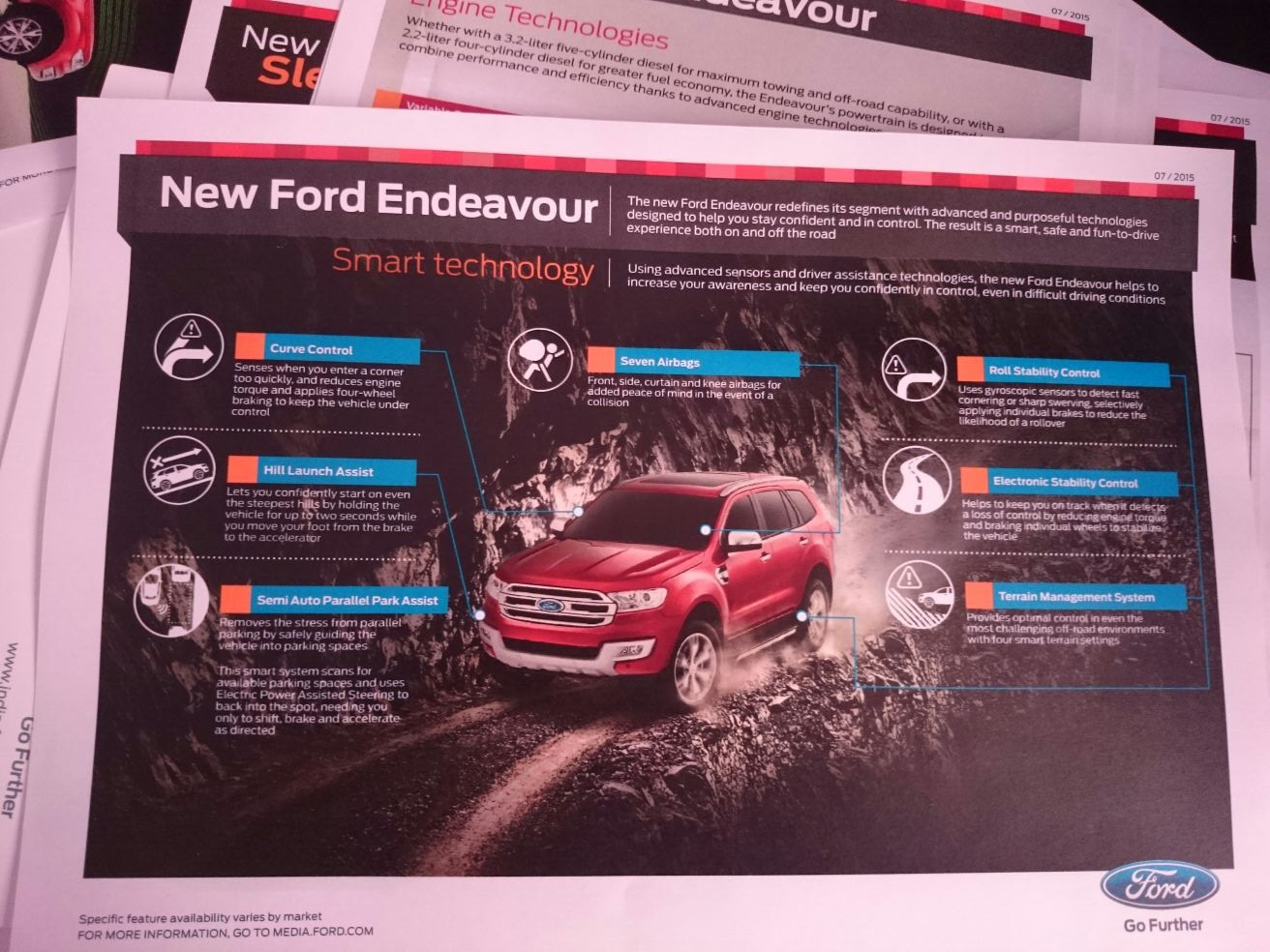 Ford Endeavour Safety features