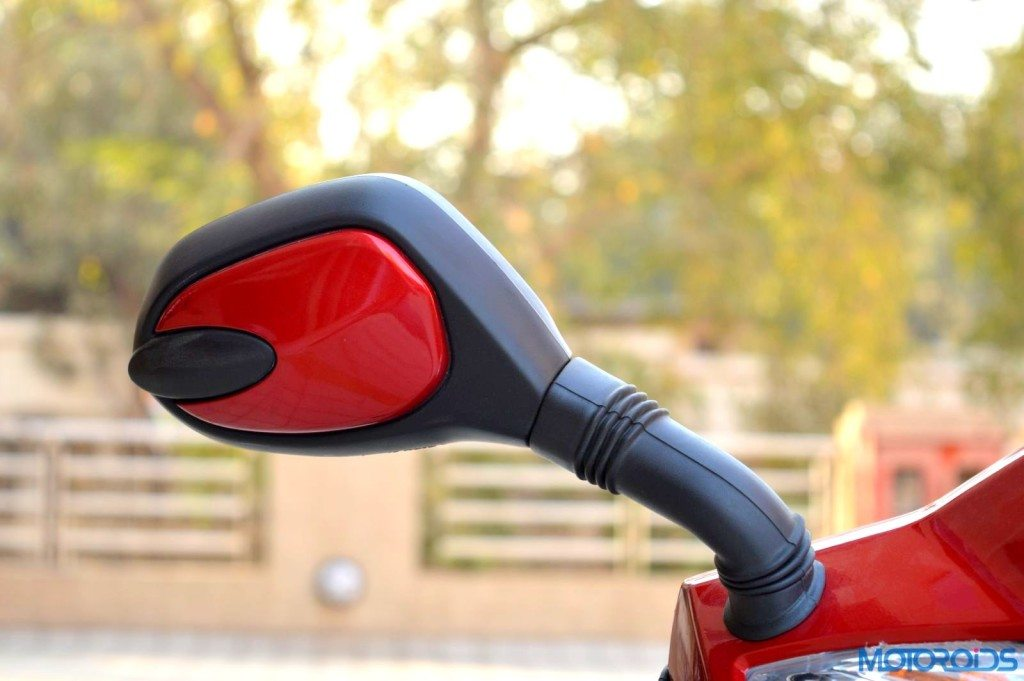 Hero Duet rear view mirror with dual colour