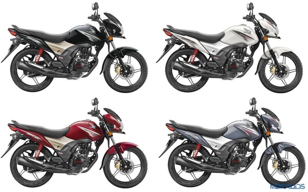 Honda CB Shine SP Colour options