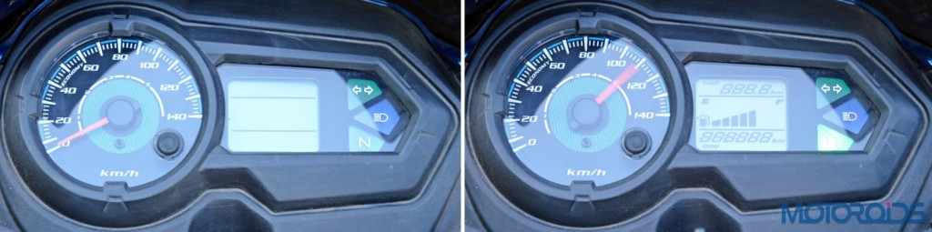 Honda CB Shine SP instrument cluster on-off