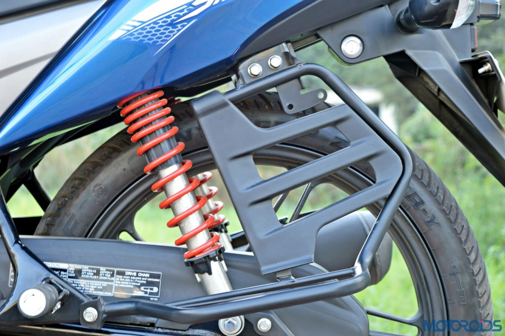 Honda CB Shine SP redesigned saree guard