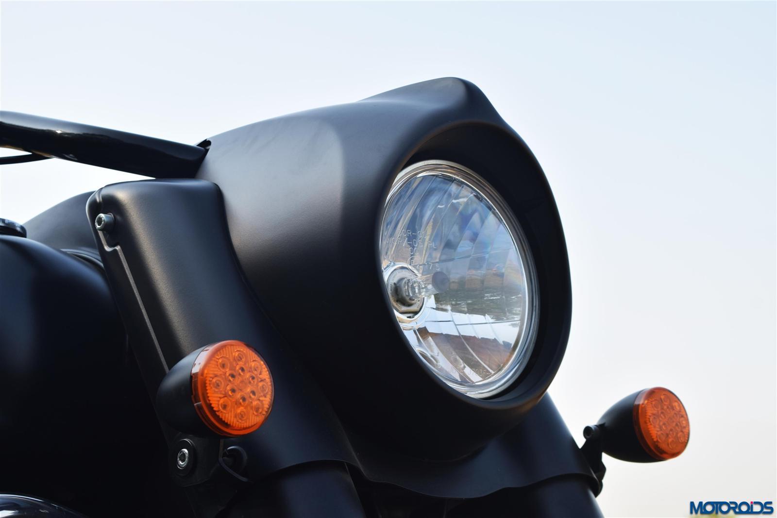 Indian Dark Horse headlight