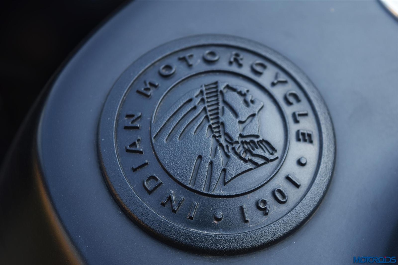 Indian Dark Horse logo on fuel tank (35)