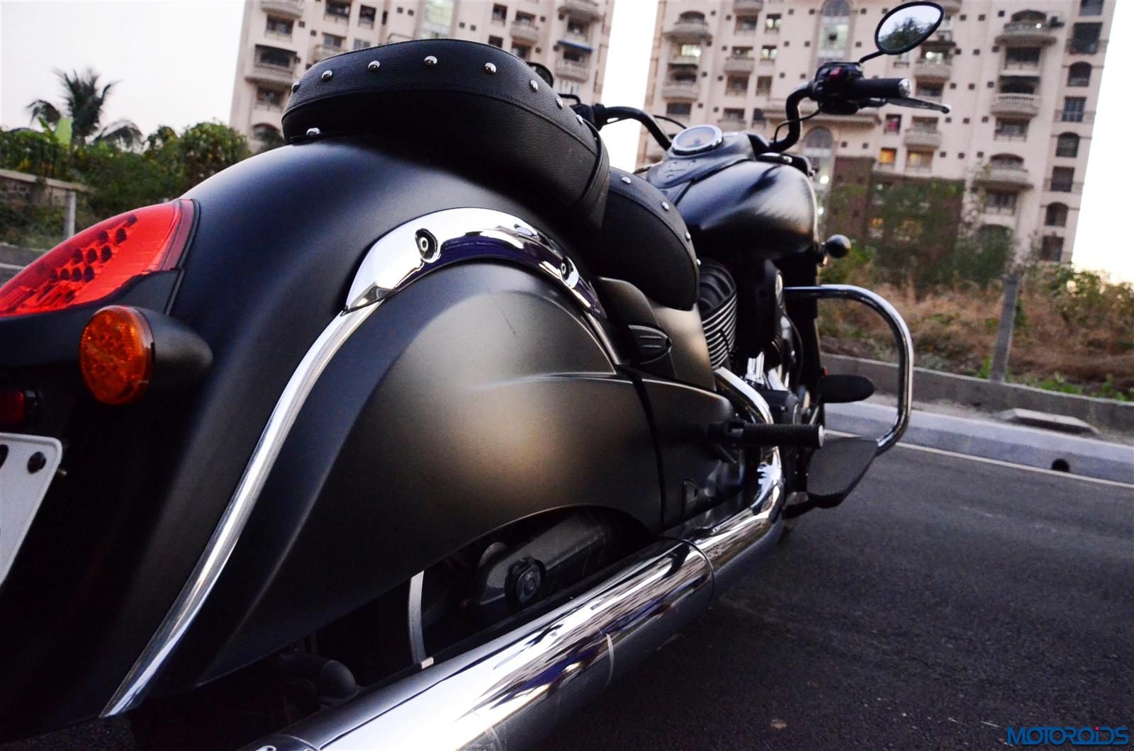Indian Dark Horse rear view