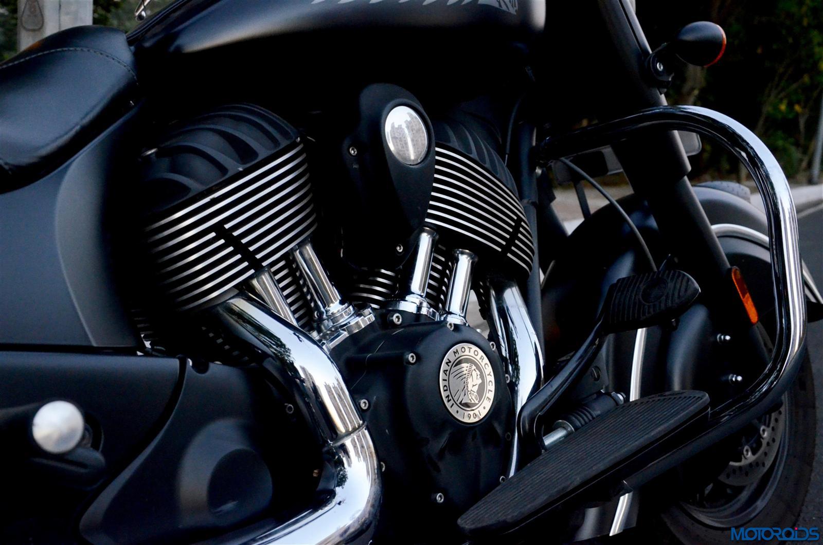 Indian Dark Horse twin cylinders