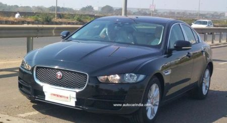 Jaguar XE spied undisguised ahead of launch at Auto Expo
