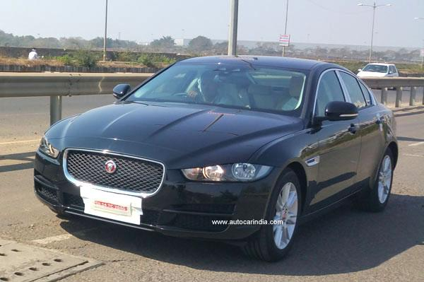 JAguar XE spied in India- frontview