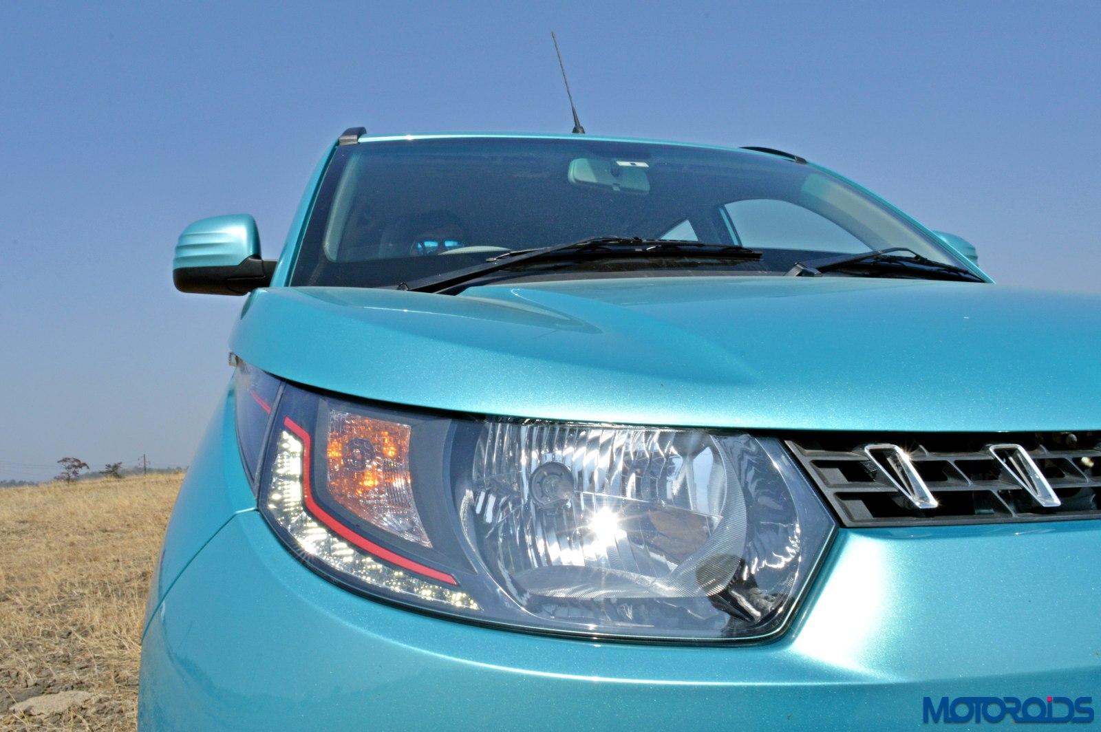 KUV 100 petrol review India headlight