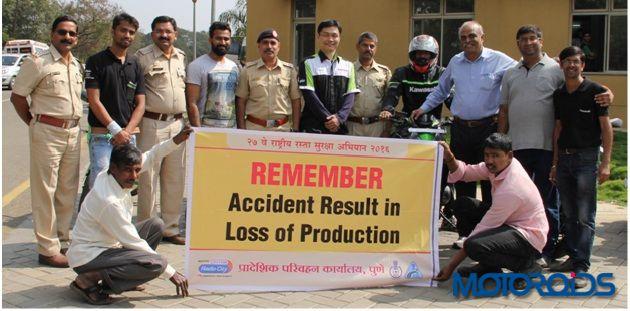 Kawasaki IDTR Pune road safety clinic