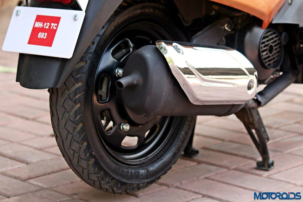 Mahindra Gusto 125 Review - Details - Exhaust Pipe