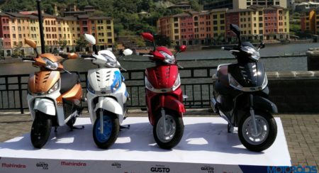 Mahindra Gusto 125 launch color variants 1