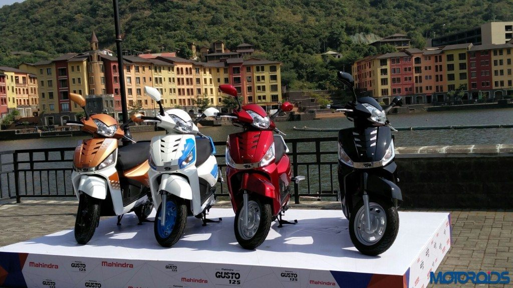 Mahindra Gusto 125 launch- color variants