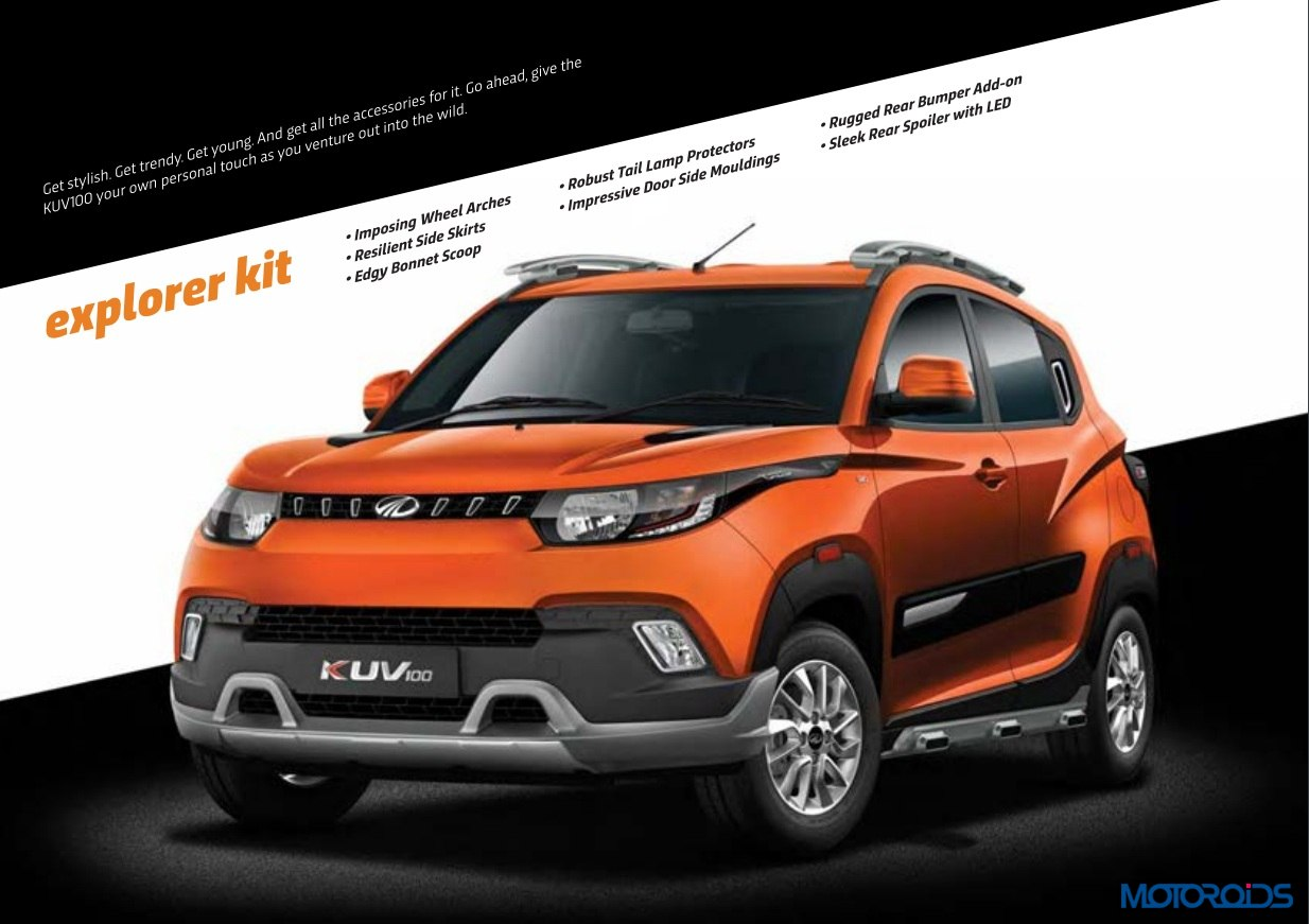 Mahindra KUV 100 accessories explorer kit