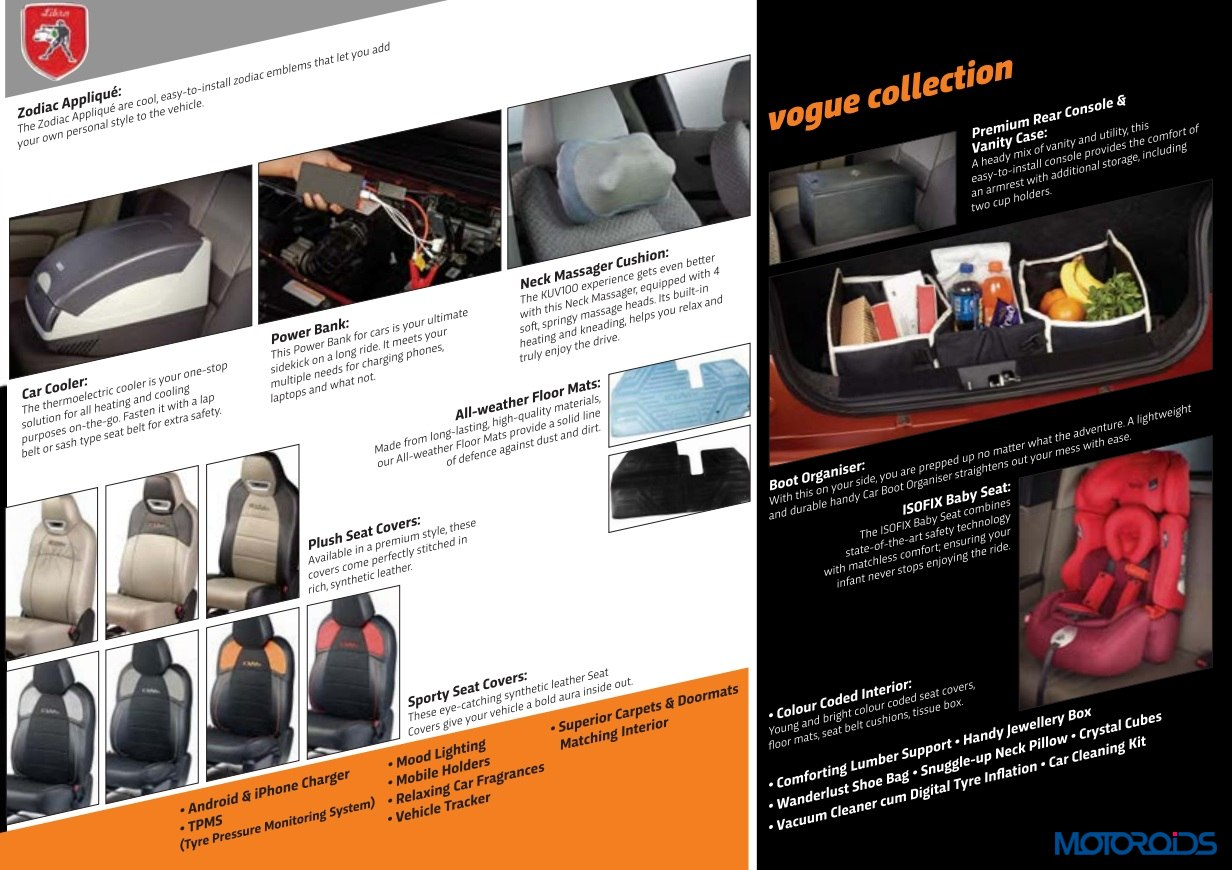 Mahindra KUV 100 accessories seat covers