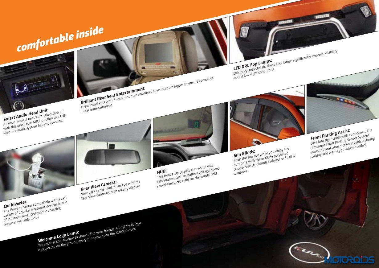 Mahindra KUV 100 inteior accessories