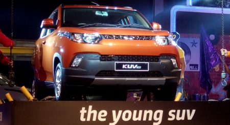 Mahindra KUV 100 on the stage