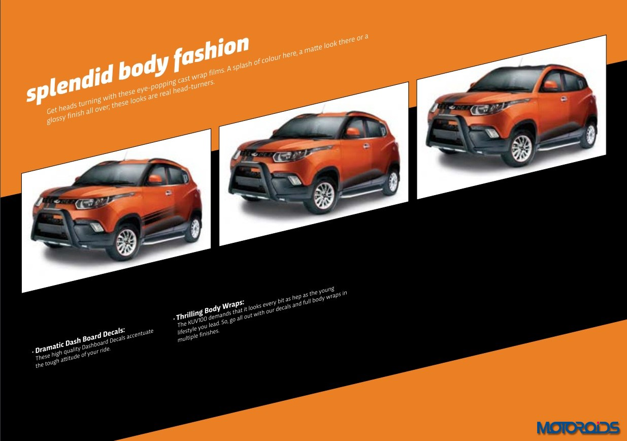 Mahindra KUV100 body decals
