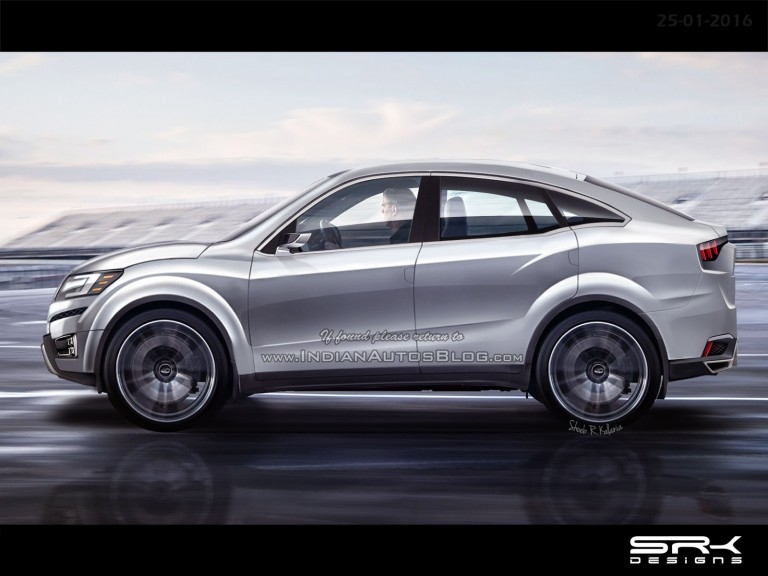 Mahindra Xuv Aero Coupe Crossover Rendered Ahead Of Its