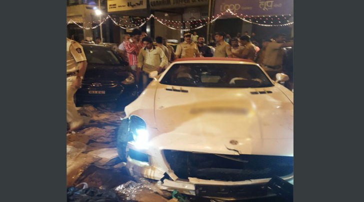 Mercedes SLS AMG roadster accident indian express