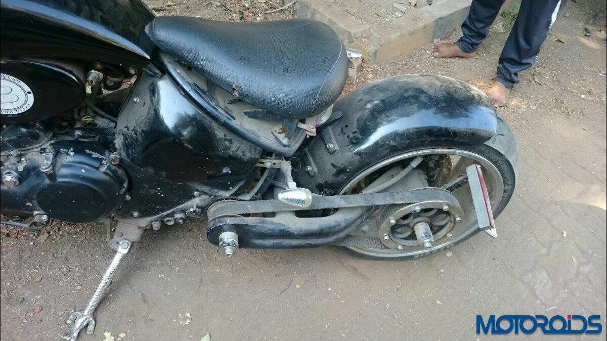 Modified Royal enfield seized 1