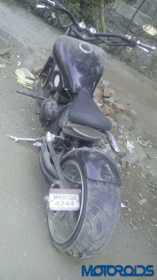 Modified Royal enfield seized 2