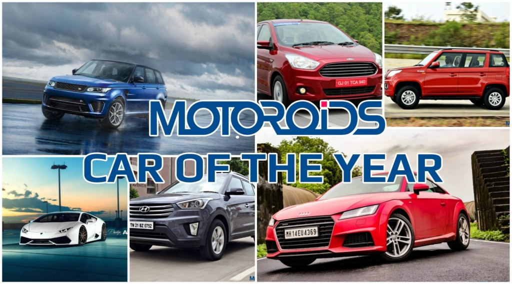 Motoroids Car of the year collage