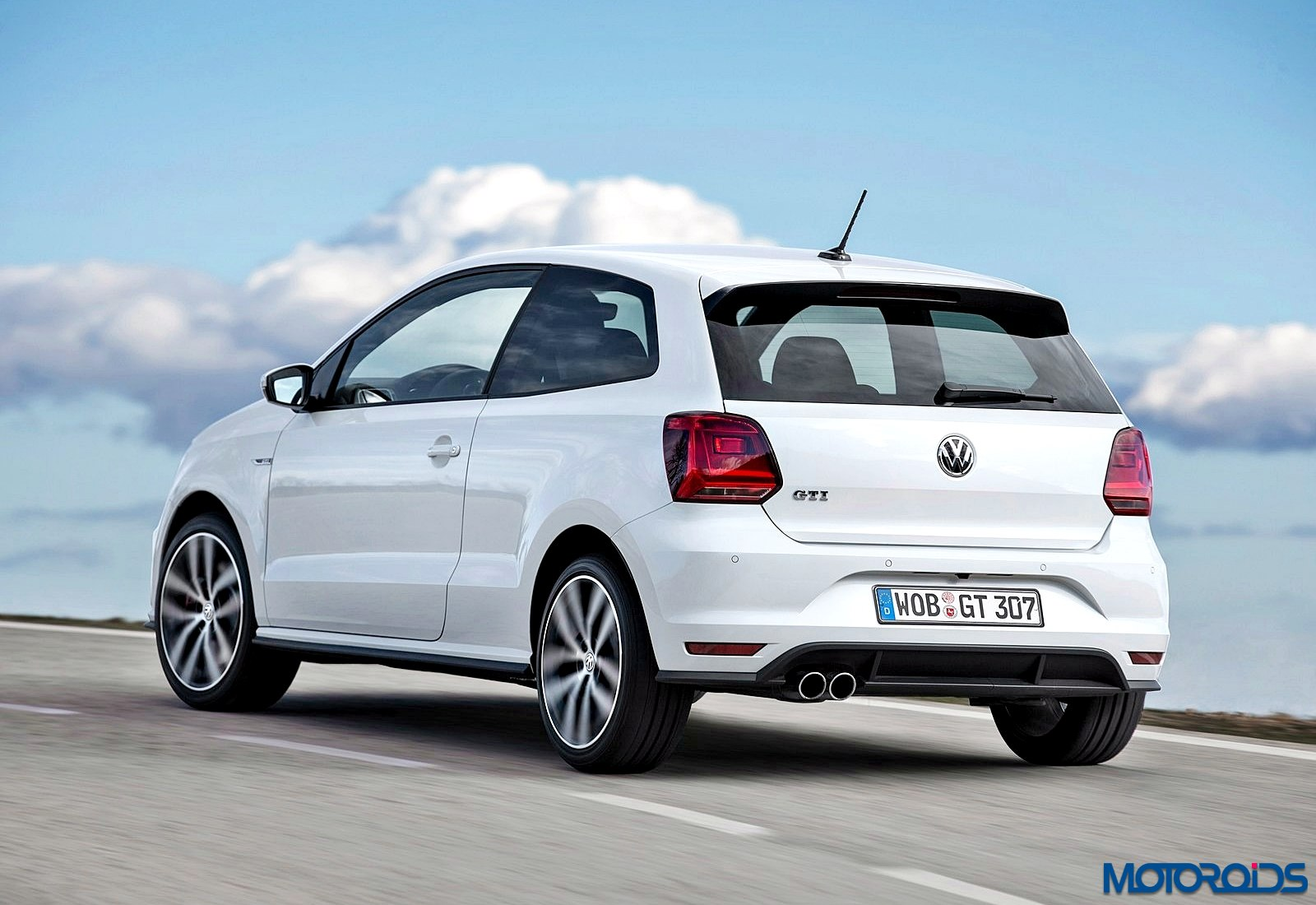 spied volkswagen polo gti spotted testing in india motoroids. Black Bedroom Furniture Sets. Home Design Ideas