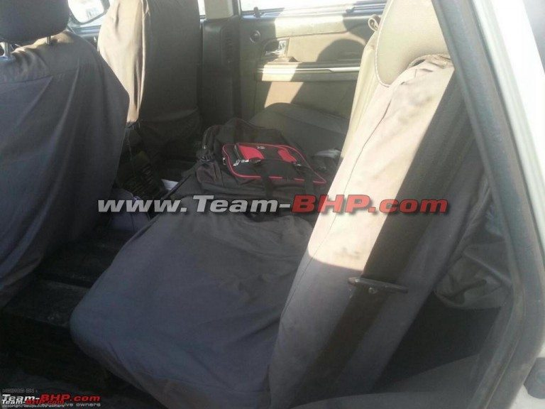 Tata Hexa dashboard spy image interior