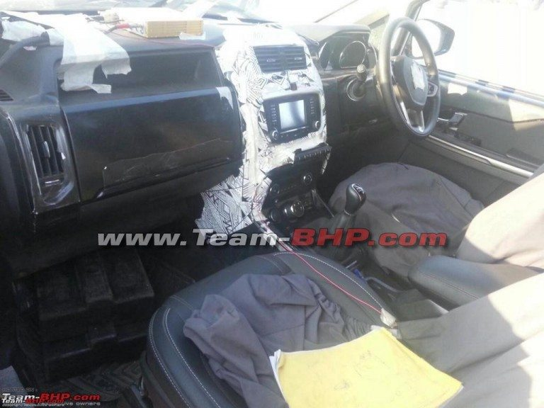 Tata Hexa dashboard spy image