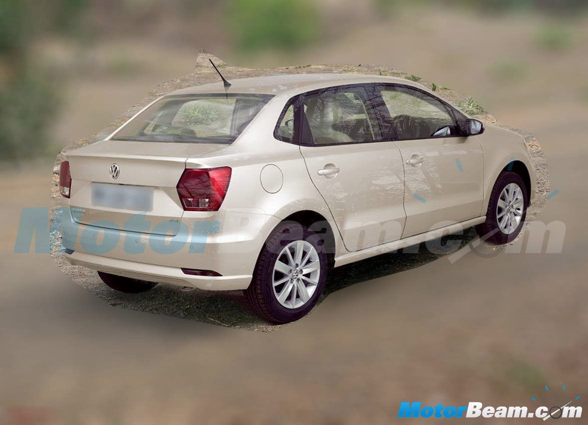 Volkswagen Ameo rear end spied