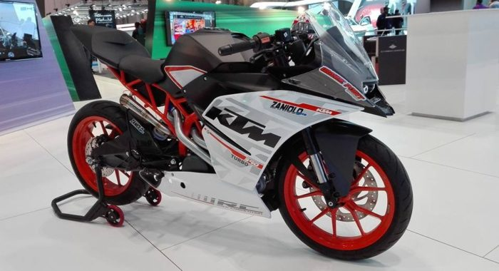 Meet the Turbo charged KTM RC390 by Performance Technologies, expected output 60hp!
