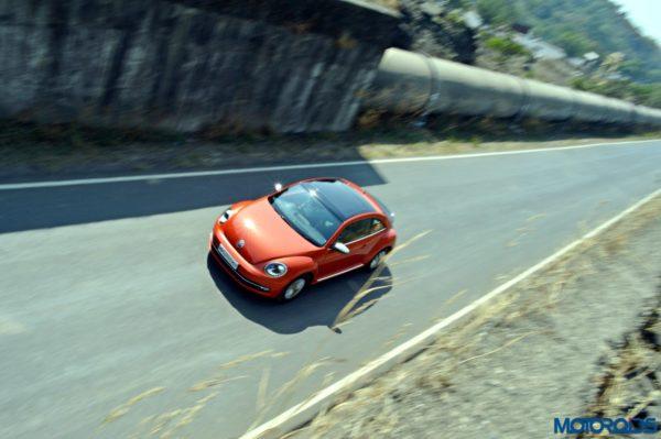 new 2016 Vw volkswagen Beetle on Road Top View